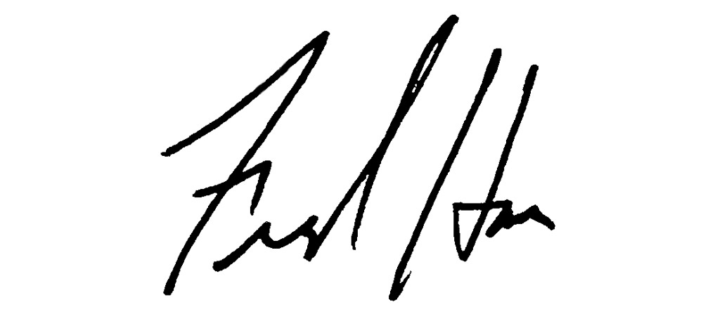 Fred Harre signature